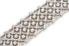 Platinum diamond bracelet - 1148033