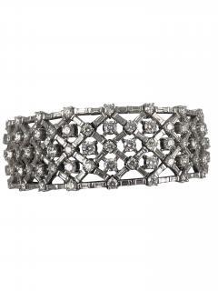 Platinum diamond bracelet - 1157923