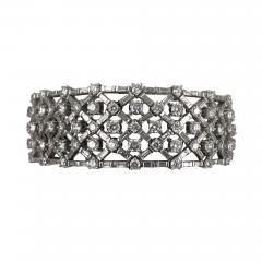 Platinum diamond bracelet - 1158179