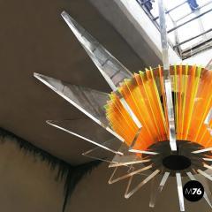 Plexiglass multicoloured ceiling lamp 1970s - 1935952