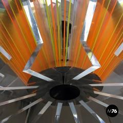 Plexiglass multicoloured ceiling lamp 1970s - 1935953