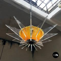Plexiglass multicoloured ceiling lamp 1970s - 1935957