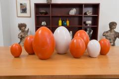 Pol Chambost Set of 8 Ceramic Egg Sculptures - 573692
