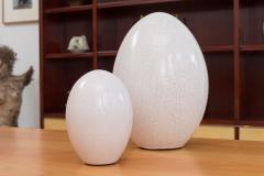 Pol Chambost Set of 8 Ceramic Egg Sculptures - 573693