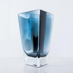 Poland LSA Art glass Triangular Handblown Decorative Glass Vase - 1892566