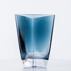 Poland LSA Art glass Triangular Handblown Decorative Glass Vase - 1892567