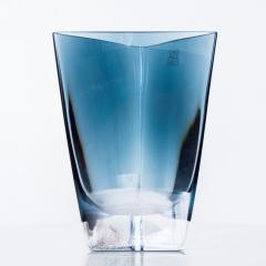 Poland LSA Art glass Triangular Handblown Decorative Glass Vase - 1892568
