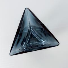 Poland LSA Art glass Triangular Handblown Decorative Glass Vase - 1892571