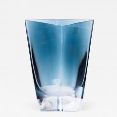 Poland LSA Art glass Triangular Handblown Decorative Glass Vase - 1894101