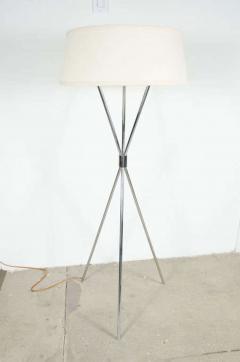 Polished Chrome Tripod Reading Lamp by T H Robsjohn Gibbings - 775166