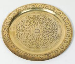 Polished Moroccan Brass Tray Side Table on Spider Leg 1950 - 1302573