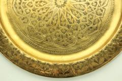 Polished Moroccan Brass Tray Side Table on Spider Leg 1950 - 1302575