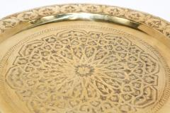 Polished Moroccan Brass Tray Side Table on Spider Leg 1950 - 1302581