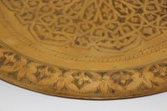 Polished Moroccan Brass Tray Side Table on Spider Leg 1950 - 1302584