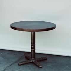 Polished Steel and Antiviral Raw Copper Top Gueridon Side Table - 1409501