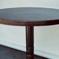 Polished Steel and Antiviral Raw Copper Top Gueridon Side Table - 1409503
