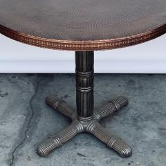 Polished Steel and Antiviral Raw Copper Top Gueridon Side Table - 1409506