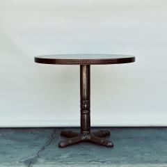 Polished Steel and Antiviral Raw Copper Top Gueridon Side Table - 1409508