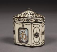 Polished Steel and Ivory Tea Caddy in the Russian Style of the Tula Workshops - 1311276