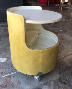 Poltrona Frau Italian 1960s Frau Leather Nightstand - 600898