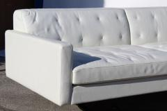 Poltrona Frau Over Scale Poltrona Frau Italy Leather and Stainless Steel Sofa - 1142448