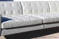 Poltrona Frau Over Scale Poltrona Frau Italy Leather and Stainless Steel Sofa - 1142449