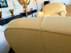 Poltrona Frau Pair of Vanity Fair Leather Sofa by Poltrona Frau Italy 1980s - 1223514