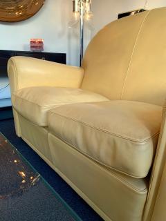 Poltrona Frau Pair of Vanity Fair Leather Sofa by Poltrona Frau Italy 1980s - 1223515
