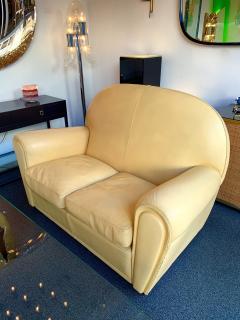 Poltrona Frau Pair of Vanity Fair Leather Sofa by Poltrona Frau Italy 1980s - 1223516