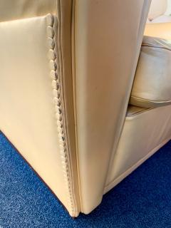 Poltrona Frau Pair of Vanity Fair Leather Sofa by Poltrona Frau Italy 1980s - 1223517