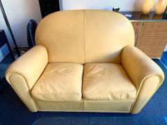Poltrona Frau Pair of Vanity Fair Leather Sofa by Poltrona Frau Italy 1980s - 1223518
