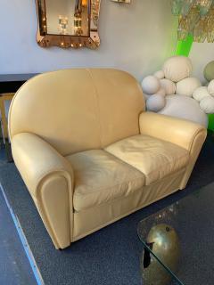 Poltrona Frau Pair of Vanity Fair Leather Sofa by Poltrona Frau Italy 1980s - 1223519