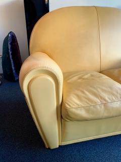 Poltrona Frau Pair of Vanity Fair Leather Sofa by Poltrona Frau Italy 1980s - 1223520