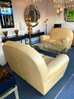 Poltrona Frau Pair of Vanity Fair Leather Sofa by Poltrona Frau Italy 1980s - 1223524