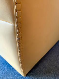 Poltrona Frau Pair of Vanity Fair Leather Sofa by Poltrona Frau Italy 1980s - 1223525