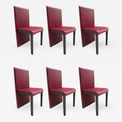 Poltrona Frau Six Leather Dining Chairs by Poltrona Frau - 429957