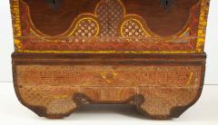 Polychrome Indian Carved Storage Chest Console - 1502506