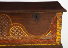 Polychrome Indian Carved Storage Chest Console - 1502510