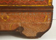 Polychrome Indian Carved Storage Chest Console - 1502512