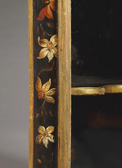Polychrome Parcel Gilt Hanging Wall Cabinet With Floral Exotic Bird Decoration - 2039396