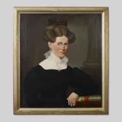 Portrait of a Woman Wearing a Tortoise Shell Comb Holding a Book by Chapone  - 56929