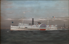 Portrait of the Paddle Wheel Ship Penobscot - 35250