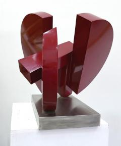 Postmodern Abstract Steel Sculpture by M Anderson 1981 - 1219177