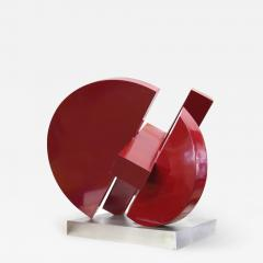 Postmodern Abstract Steel Sculpture by M Anderson 1981 - 1219212