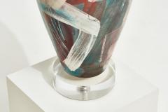 Postmodern Ceramic Table Lamps Lucite Base 1980 - 2055432