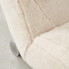 Postmodern loveseat in sheep pelt Europe c1970 - 1897944