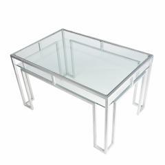 Postmodern steel glass coffee table - 1936319