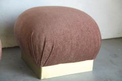 Poufs or ottomans in the style of Karl Springer - 2139919
