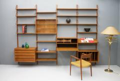 Poul Cadovius Large Wall System in Teak Wood by Poul Cadovius for Cado Denmark - 1297800