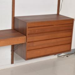Poul Cadovius Poul Cadovius CADO Royal System Wall Unit in Teak Mid Century Danish Modern - 1555361